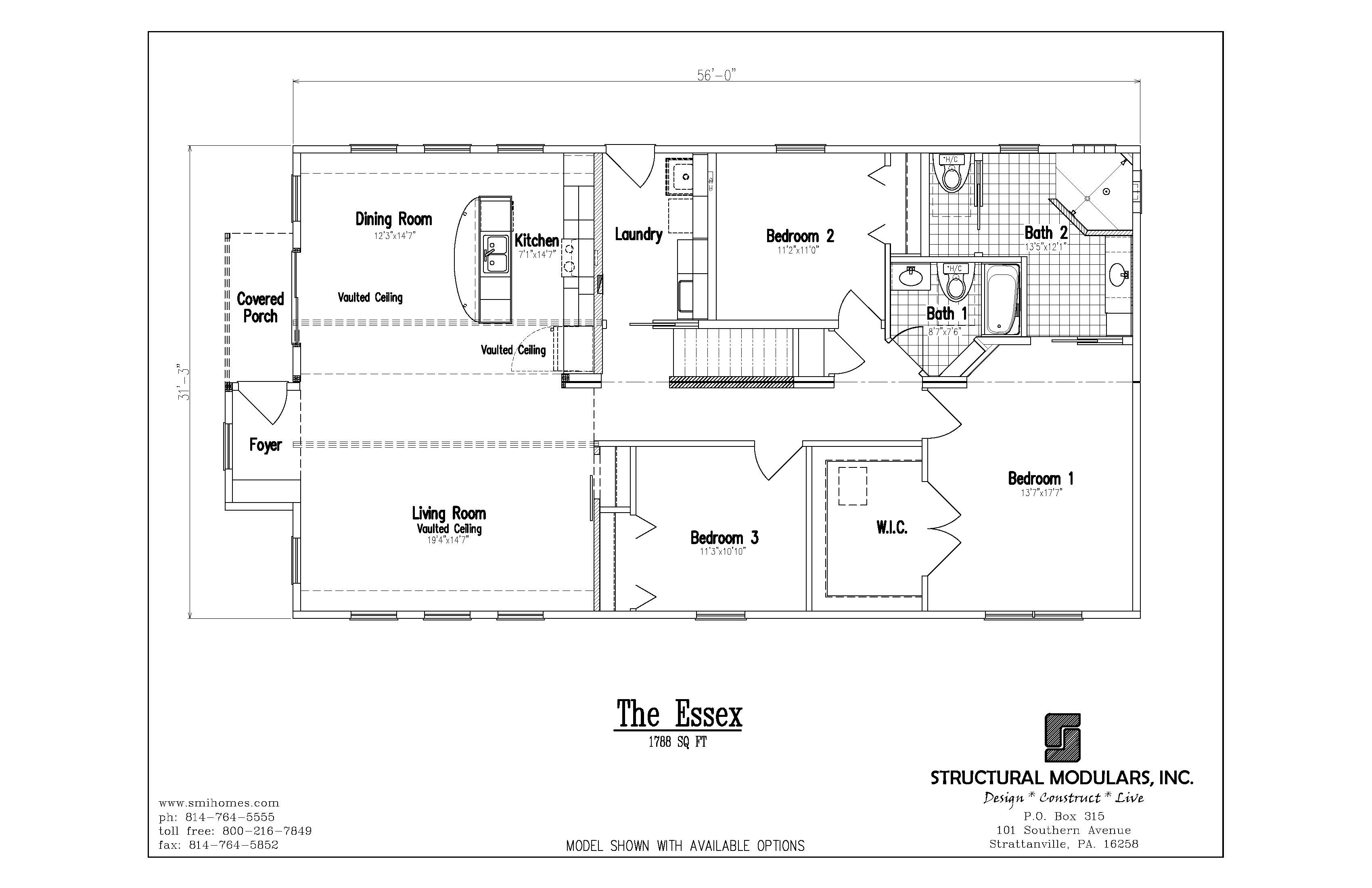 The Essex Floor Plan