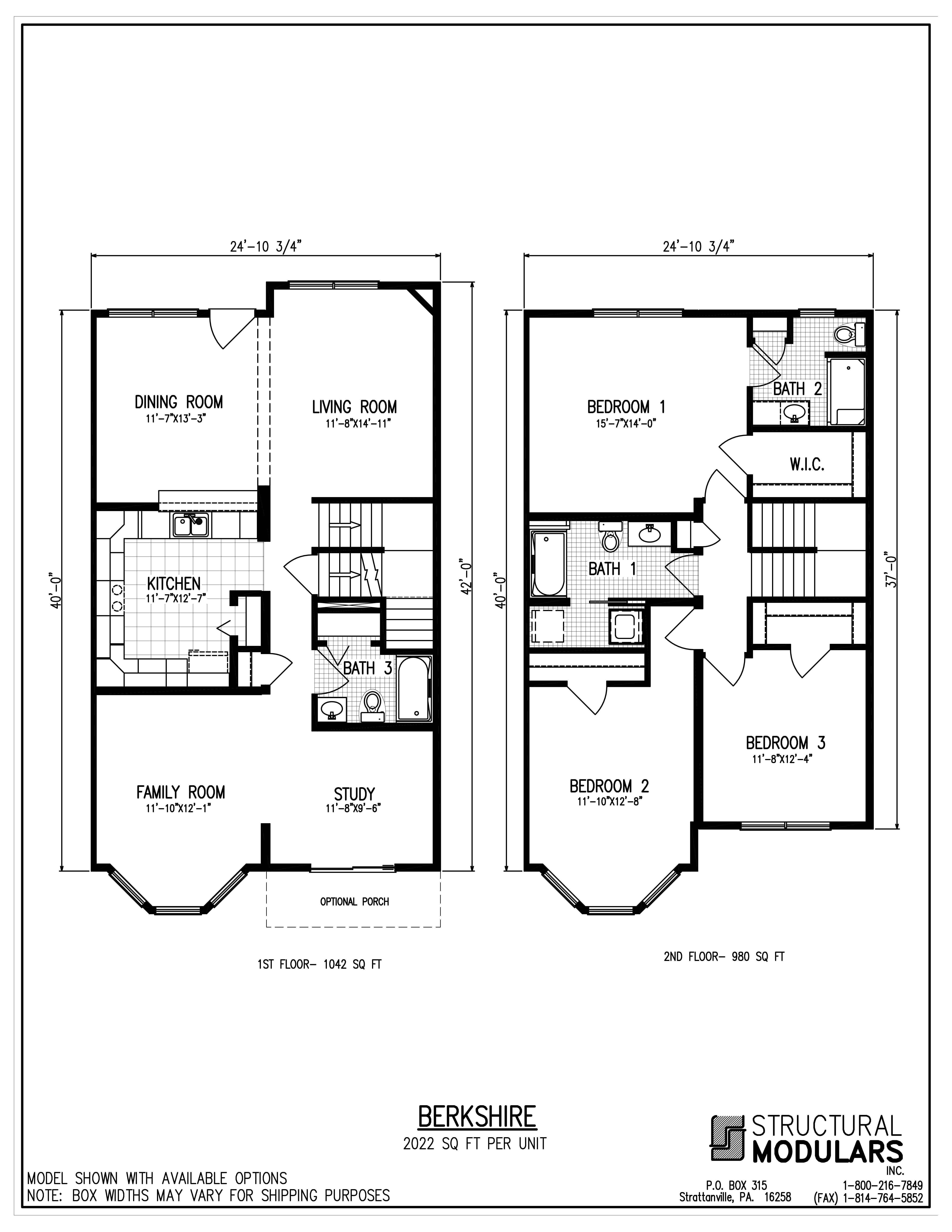 Berkshire Floor Plans