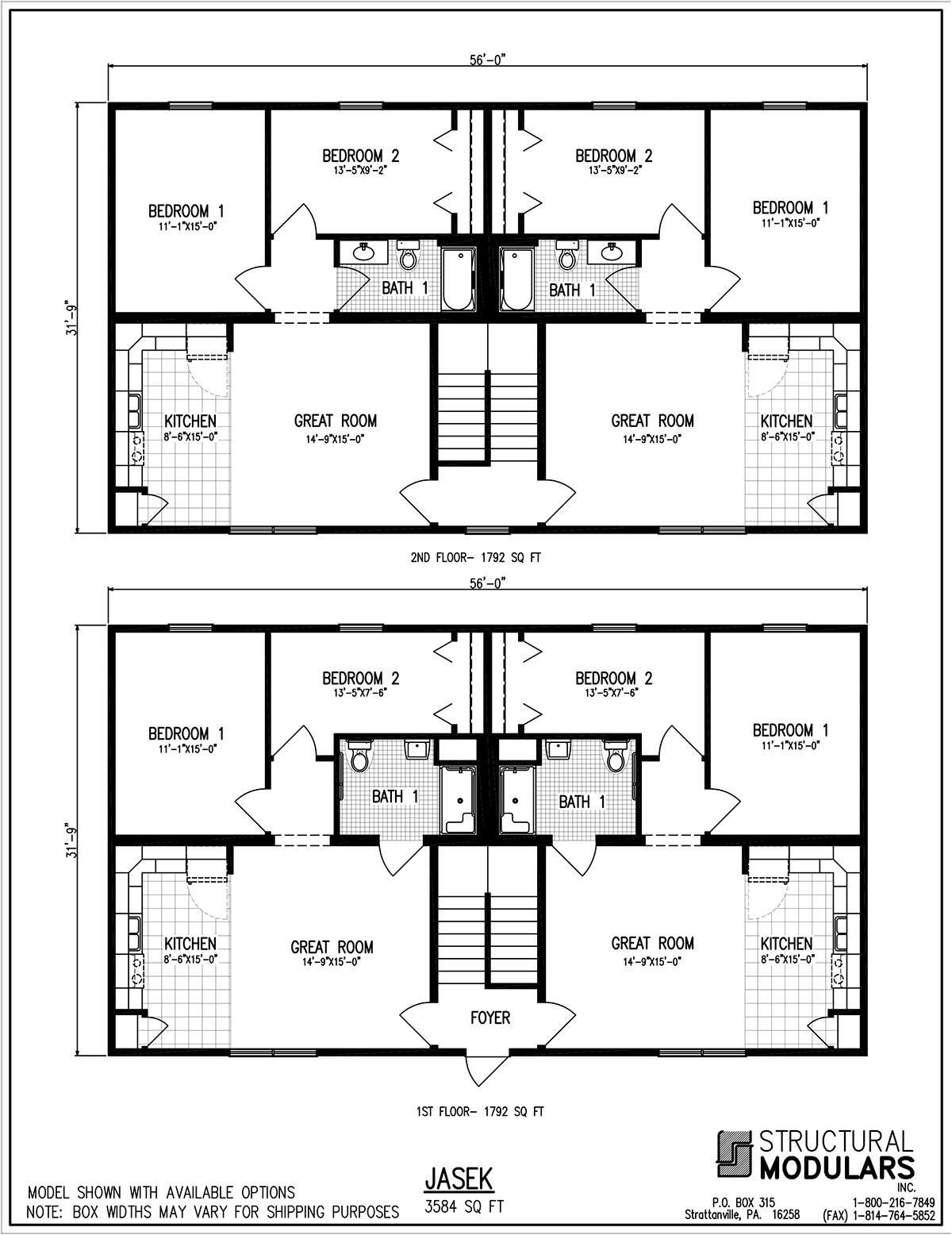 Bridgeville Floor Plans