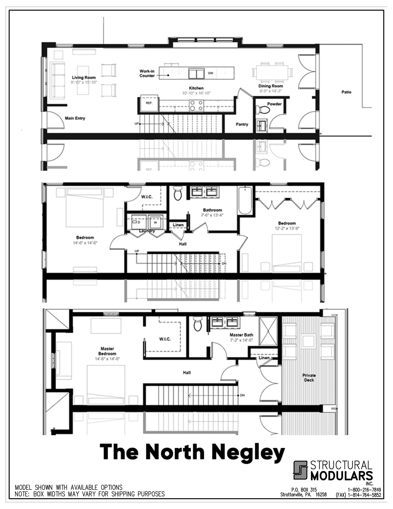 The North Negley Floor Plans