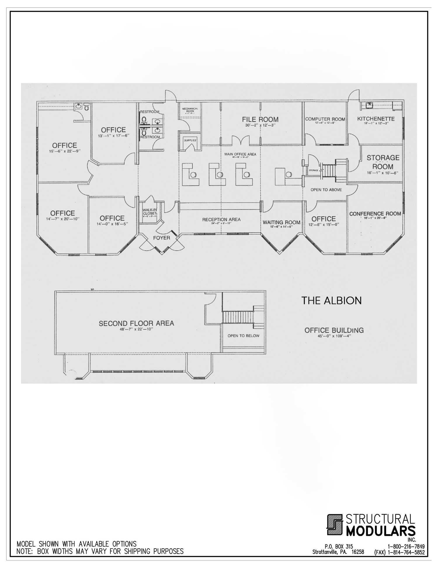 The Albion Floor Plans