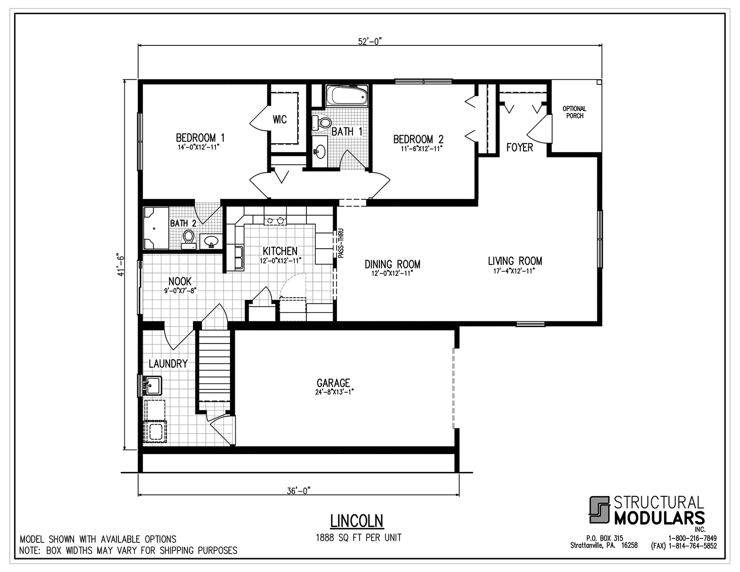 The Lincoln Retirement Floor Plans